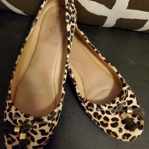 Sperry Cheetah Ballerina Tassel Slides